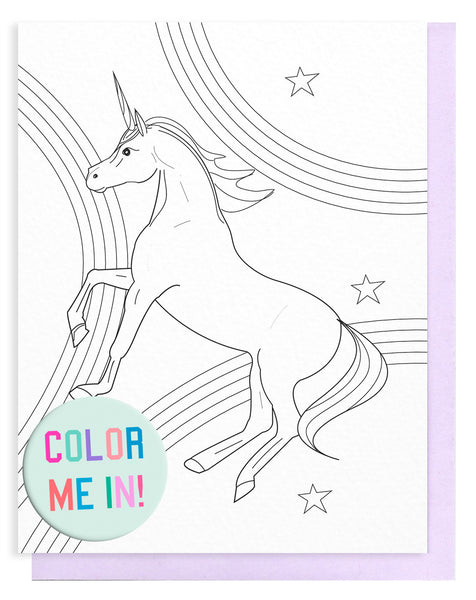 Unicorn Magic Coloring Card