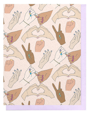 Friendship Hands Pattern Card