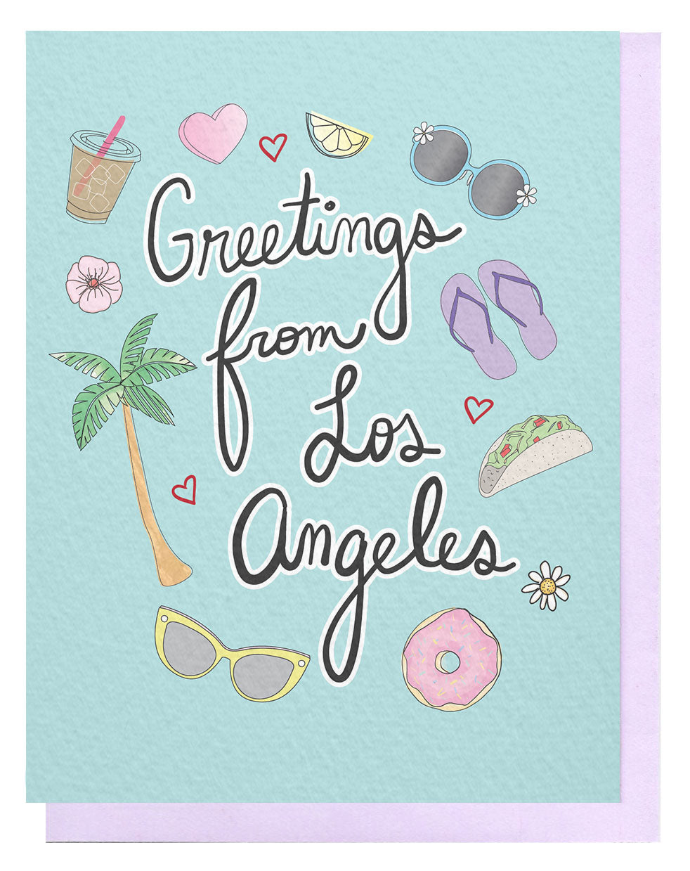 Greetings From LA Card