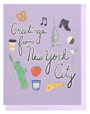 Greetings From NYC Card