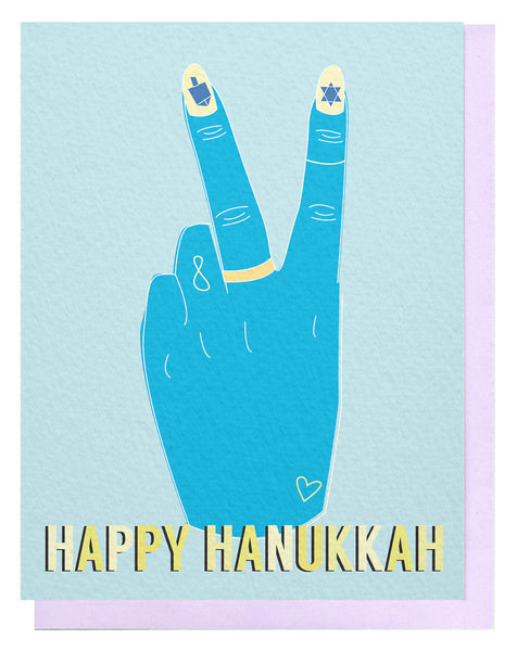 Hanukkah Peace Hand Card