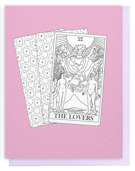 The Lovers Tarot Greeting Card