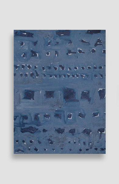 Bleu Painted Squares - Acrylic Ink on Japanese Paper - 22 x 17