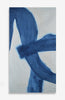 BLEU TANGLED FABRIC - ACRYLIC INK ON BELGIAN LINEN - 42 X 23