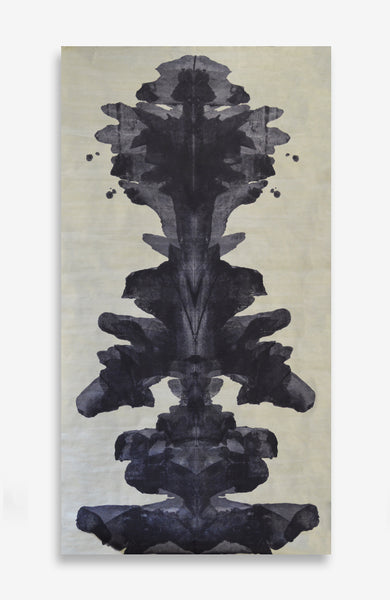 Royal Ink Blot Roll - Acrylic Ink on Japanese Paper - 6 foot roll