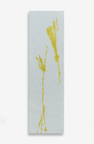 Citron Diffused - Acrylic Ink on Japanese Paper - 37 x 11