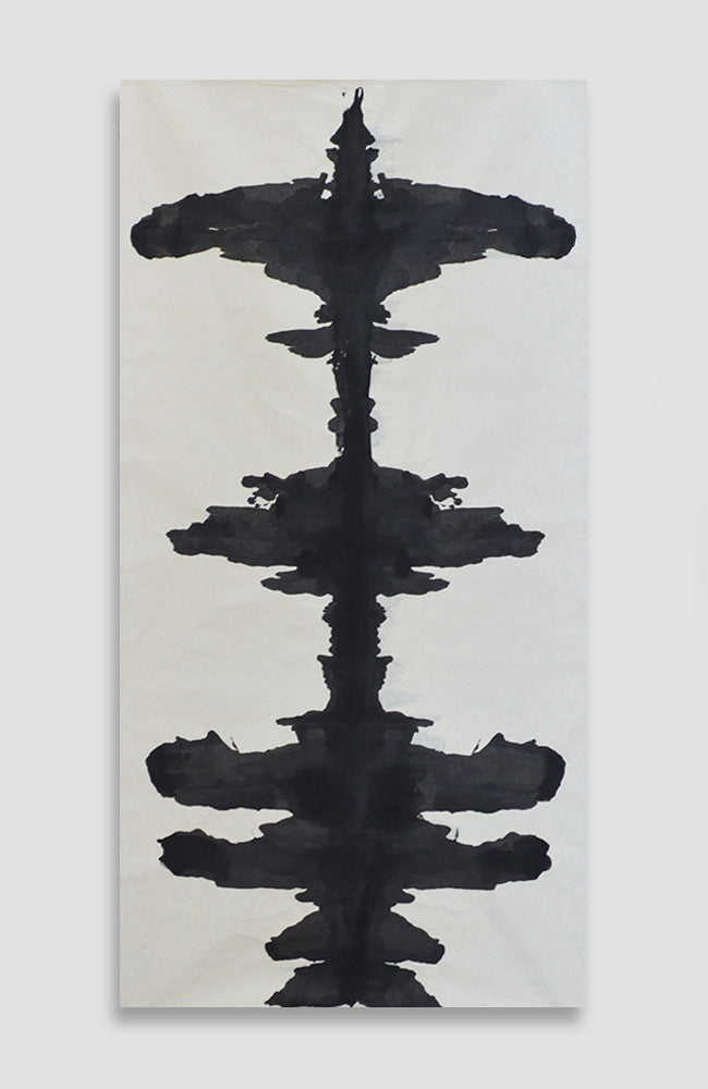 Gris Ink Blot - ACRYLIC INK ON JAPANESE PAPER - 5 Foot Roll - 8 Available