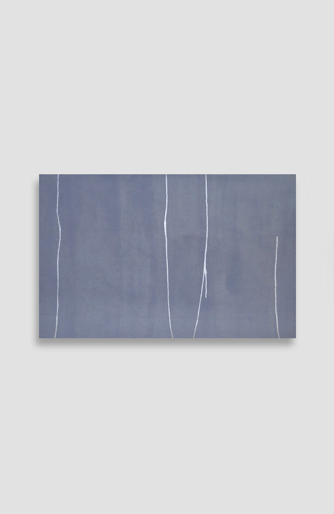 Silver Lavande Quality of Line - Acrylic Ink on Japanese Paper - 22 x 34