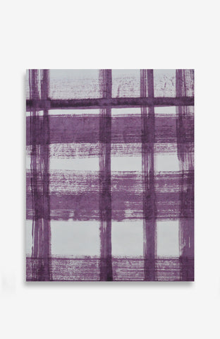 Lavande Painted Plaid - ACRYLIC INK ON JAPANESE PAPER - 20 X 16