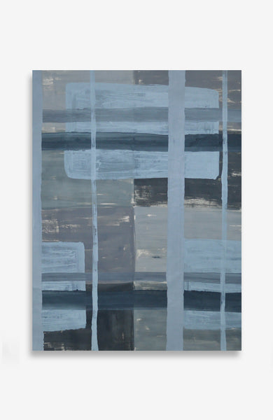 Verdatre Custom Painted Plaid - ACRYLIC INK ON JAPANESE PAPER - 36 X 27