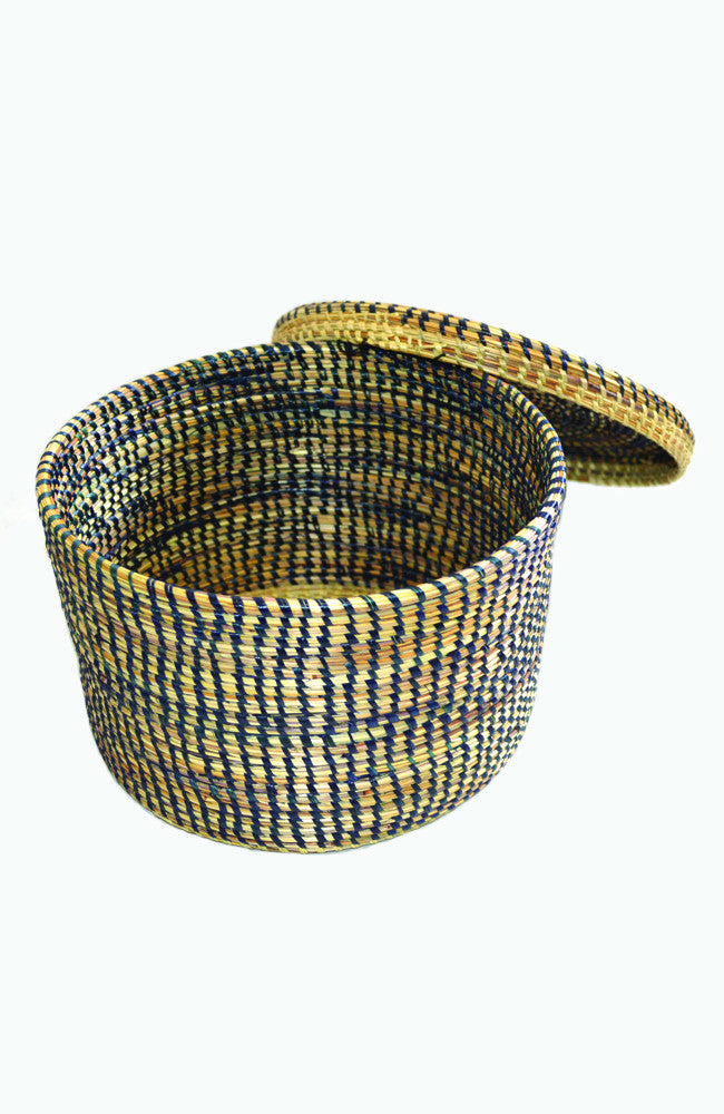 Lidded Basket - Indigo