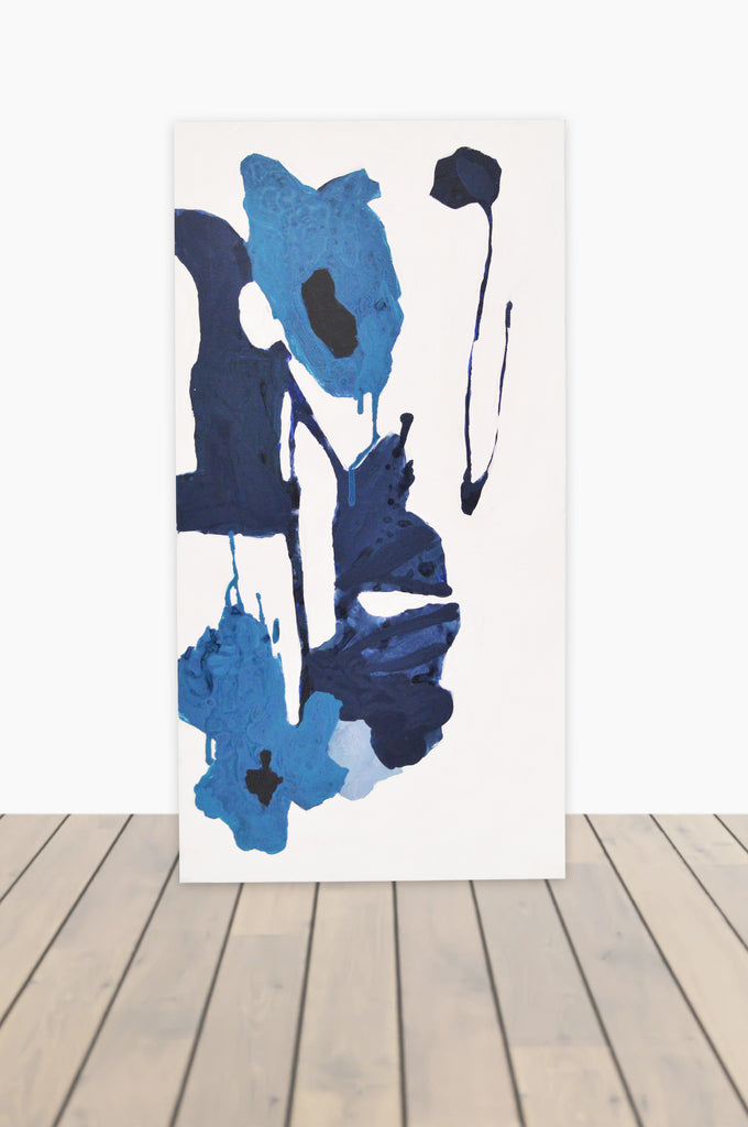 Bouquet of Blues Canvas 15 x 30 #2
