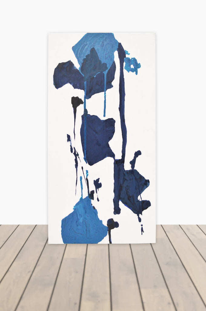 Bouquet of Blues Canvas 15 x 30 #3