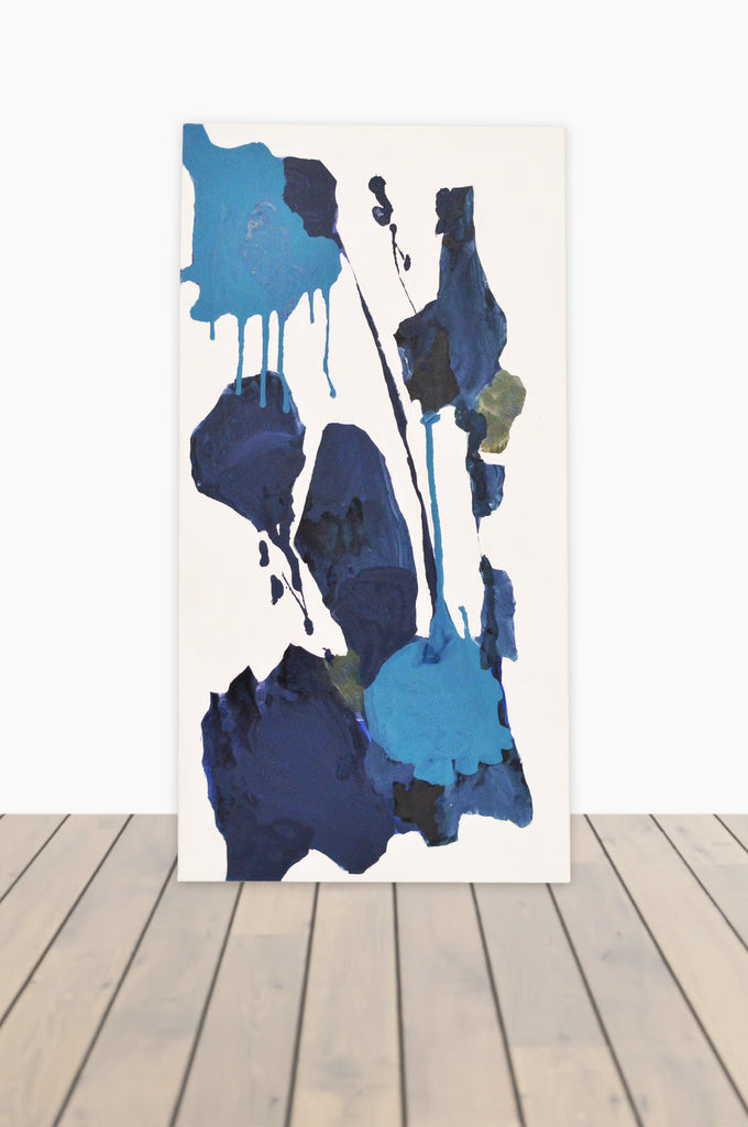 Bouquet of Blues Canvas 15 x 30 #1