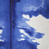 Ink Blot in Ultramarine on Silk