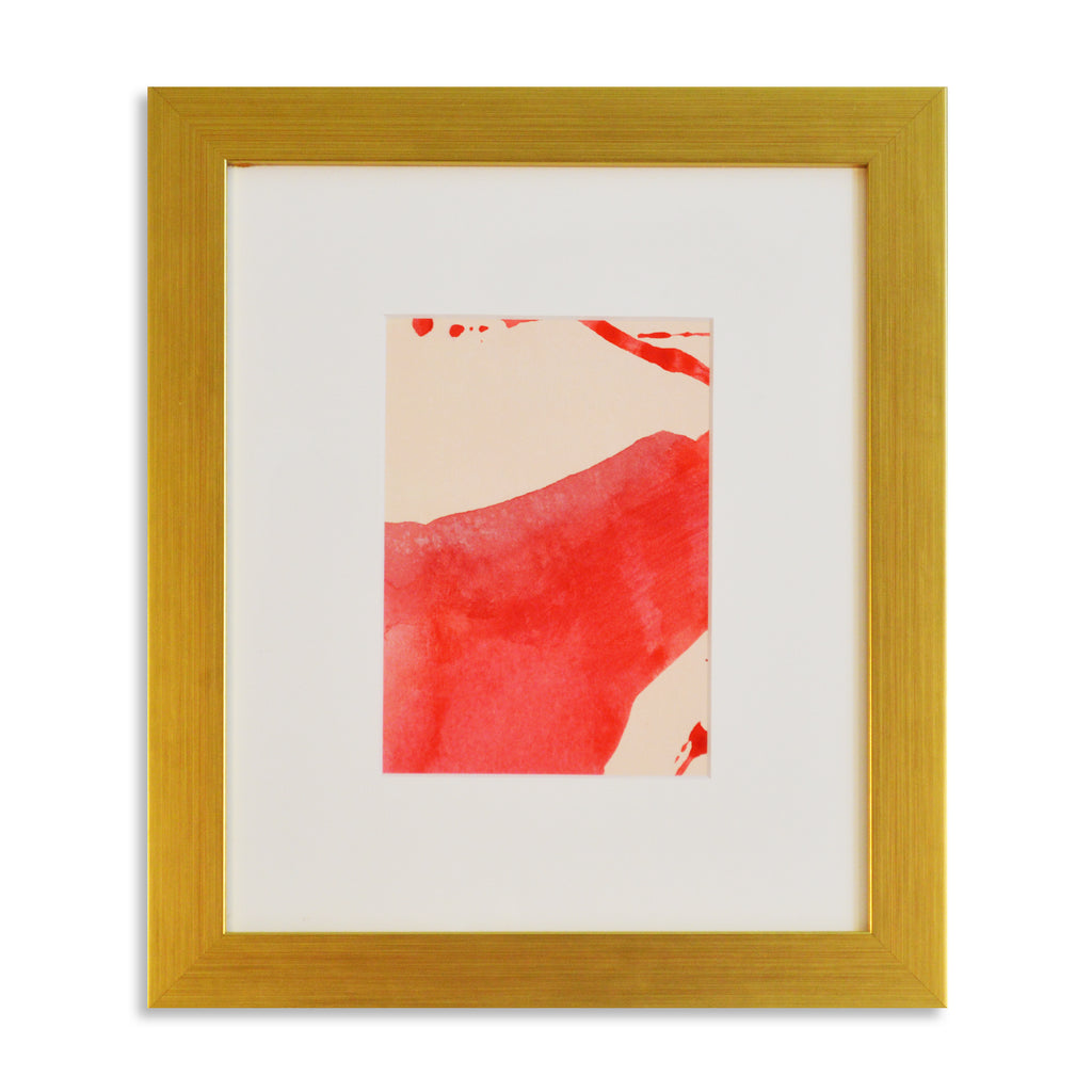 Tangled in Florescent Pink - Acrylic Ink on Japanese Paper - Framed 14 x 12