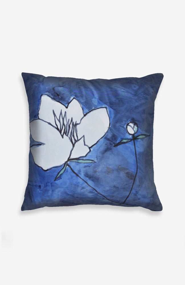 Fair Jardinier in Bleu on Silk