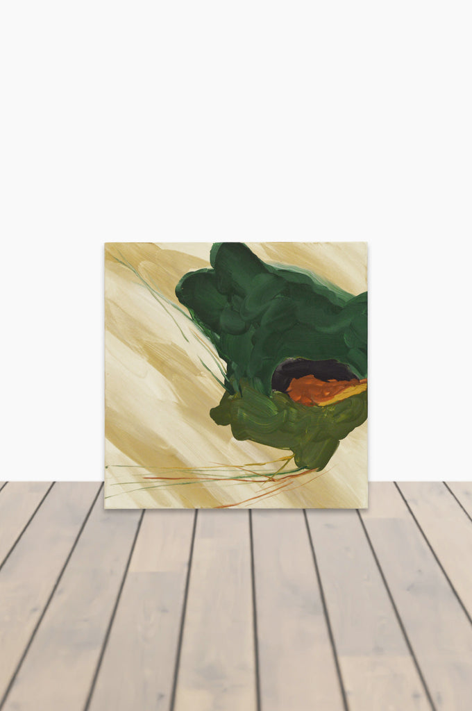 Green and Gold Pétales Canvas 20 x 20 #4