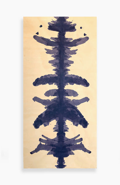 Ochre and Violet Ink Blot - 6ft Roll