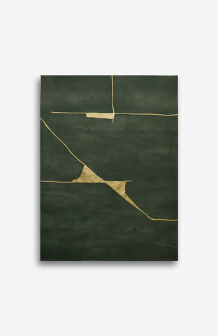 GOLD AND EMERALD KINTSUGI 38.5x28