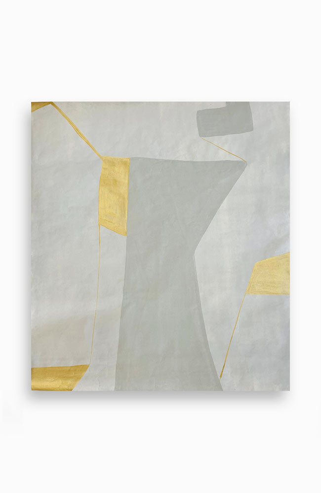 Pale Grey and Gold Construction 42 x 38
