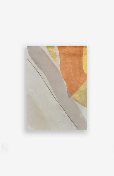 Copper and Blush Abstract Forms 8 x 11