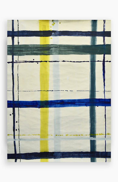 Ultramarine Painterly Plaid 36 x 49