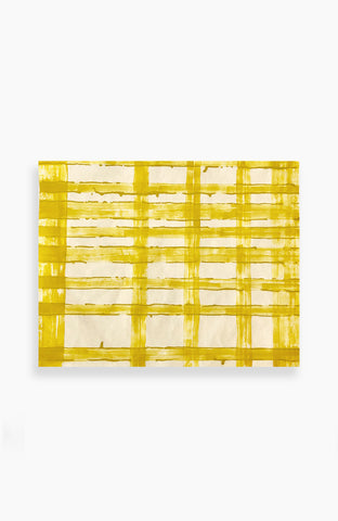Canary Plaid 27 x 34