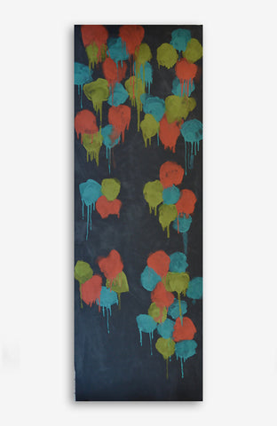 Floral Graffiti Canvas 38x106 #2