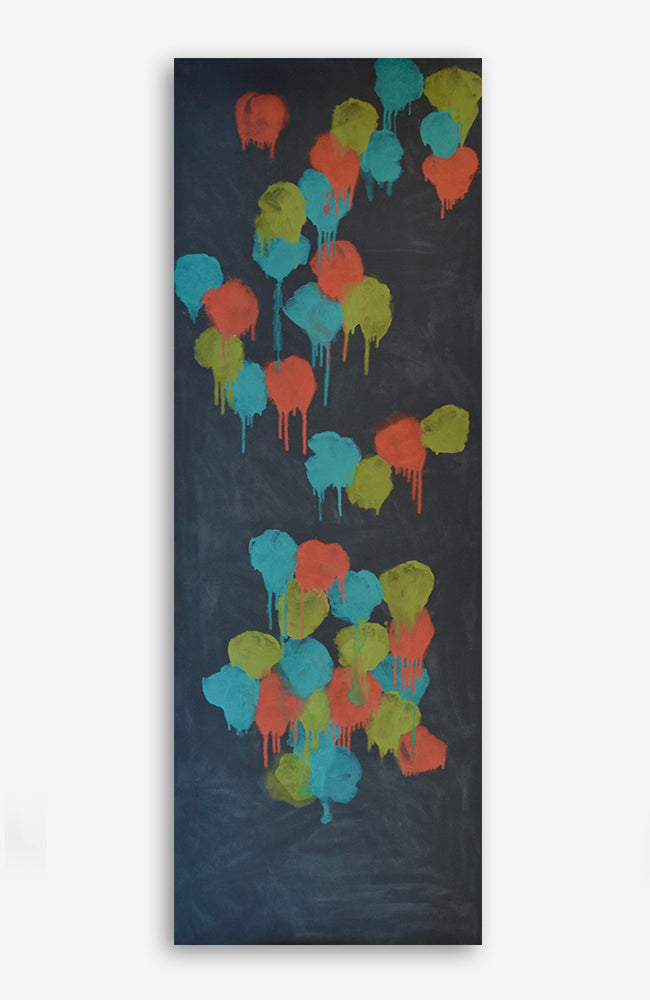 Floral Graffiti Canvas 38x106 #1