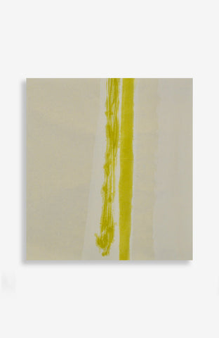 Chartreuse and White Stripe 20x21.5
