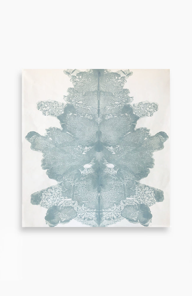 Pale Blue Ink Blot 39 x 36