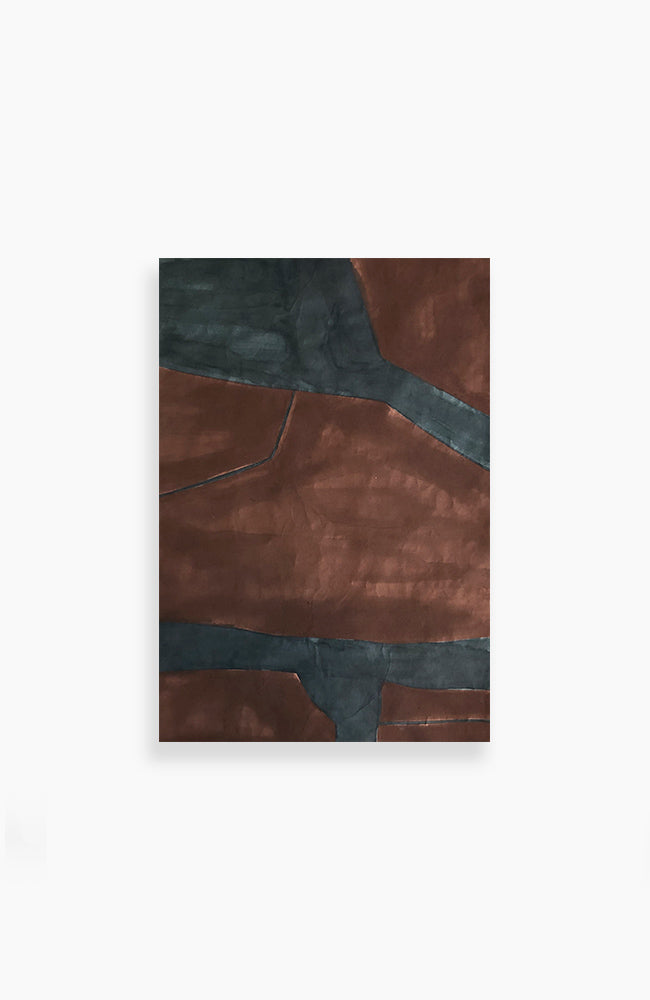 Maroon and Teal Tectonic 34 x 24