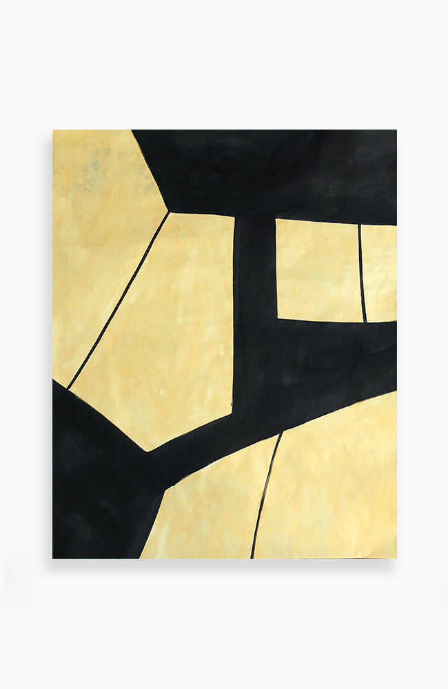 Noir and Gold Tectonic 48 x 39