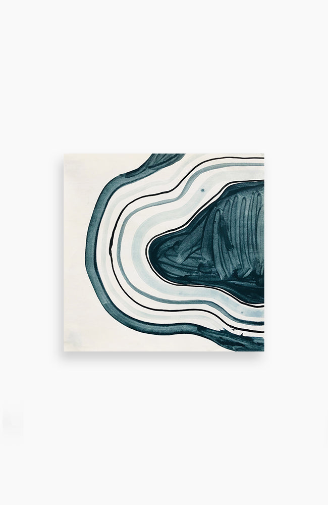 Teal Concentric Form 16 x 16