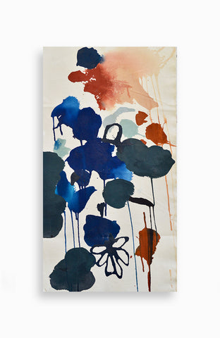 Custom Abstract Floral Canvas 14 x 26