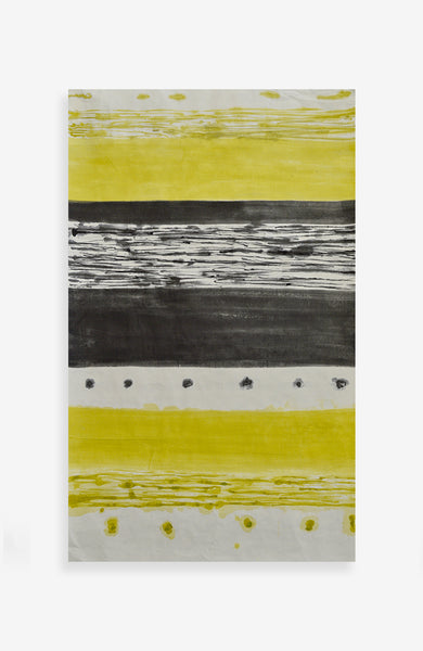 Lineal Elements in Gris and Yellow 23 x 37