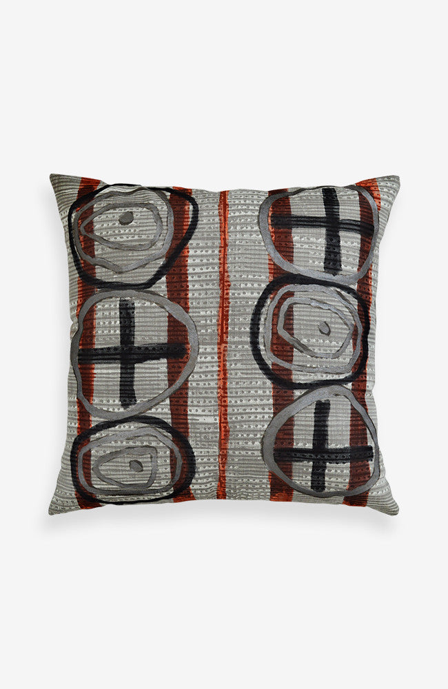 Overlayed Signs Linen Pillow