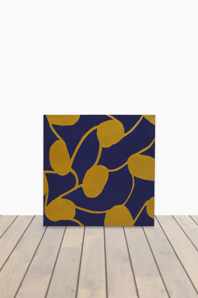 Royal Blue and Gold Synergy Canvas 20 x 20