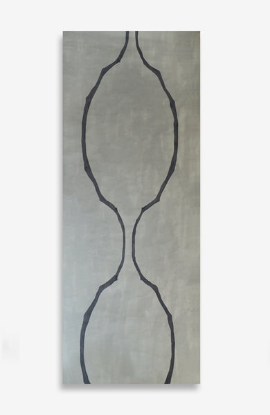 Beton Symmetrical Sticks - ACRYLIC INK ON JAPANESE PAPER - 8 Foot Roll - 2 Available