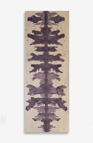 Blushing Violet Ink Blot Roll - Acrylic Ink on Japanese Paper - 9 foot roll
