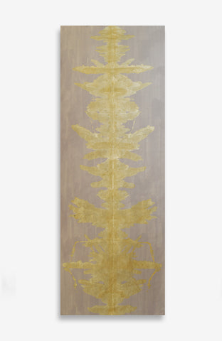 Blushing Gold Ink Blot Roll - Acrylic Ink on Japanese Paper - 9 foot roll
