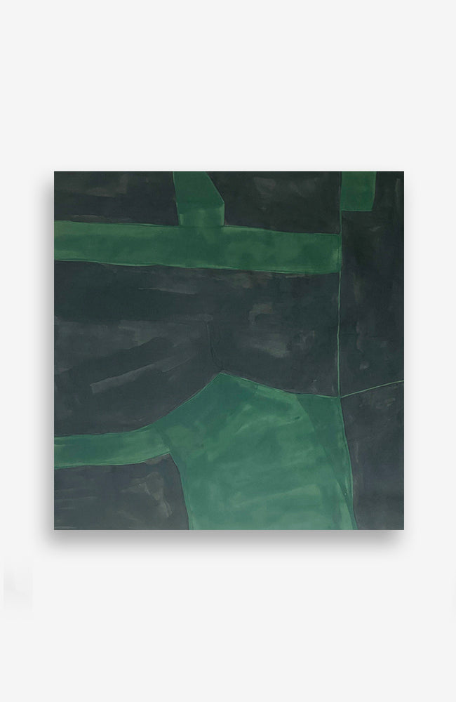 Green and Black Tectonic 37 x 36