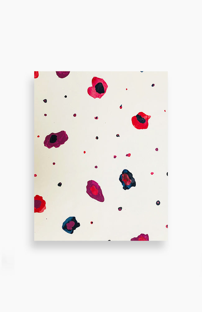 Red and Blue Floral Confetti 20 x 16, multiple available, fits standard size frame