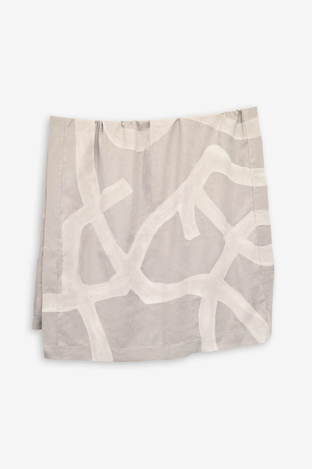 Grey Tangled Tablecloth 66 x 124""