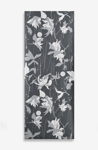 Noir From the Japanese Garden - Handprinted - 12 Foot Roll