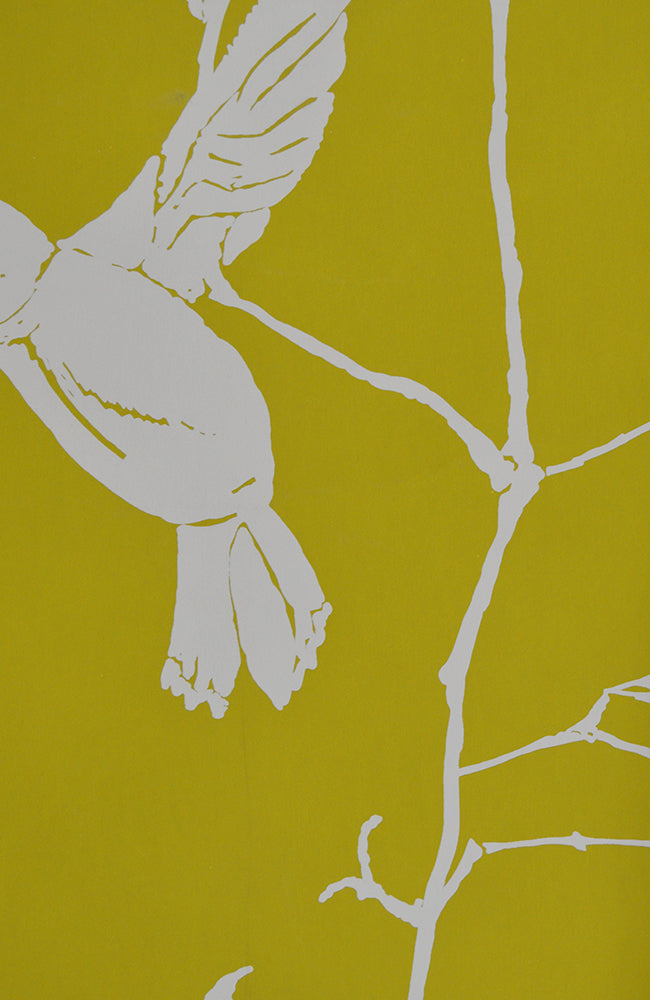 Chartreuse Climbing Vine - Handprinted - 12 Foot Roll