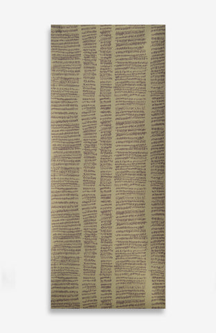 Beige Mathematical Rain - Handprinted - 26 Foot Roll