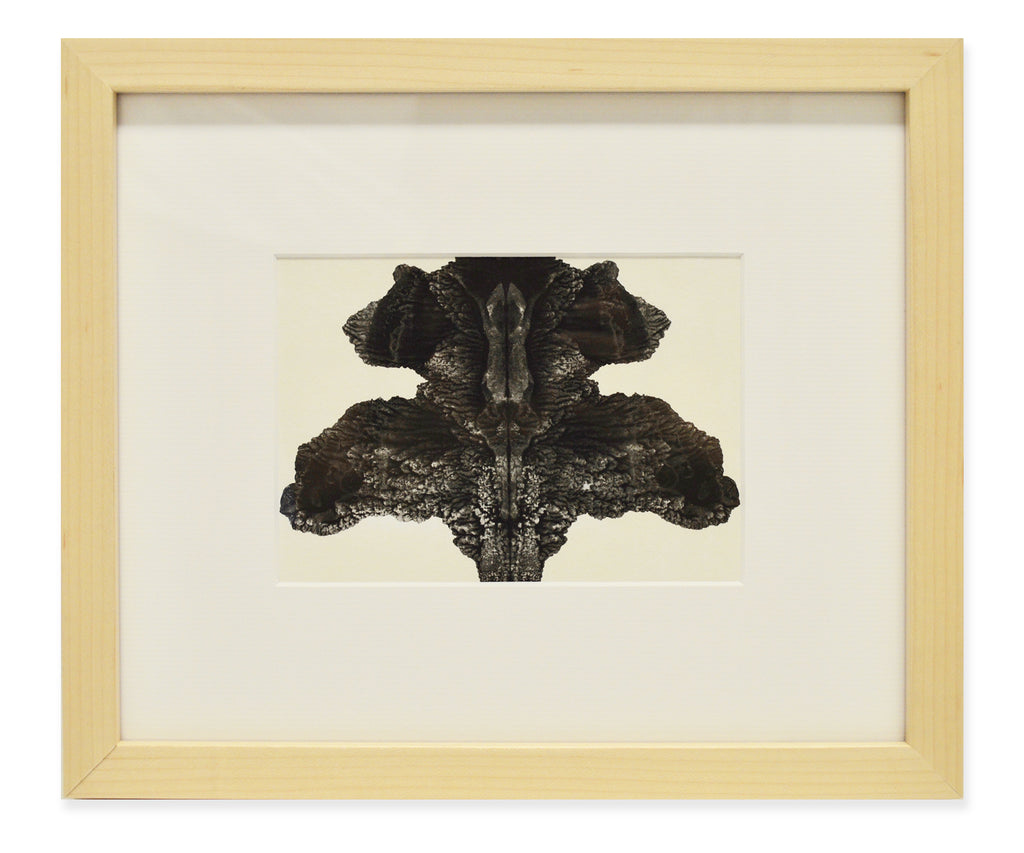 Gris Ink Blot in Natural Wood Frame