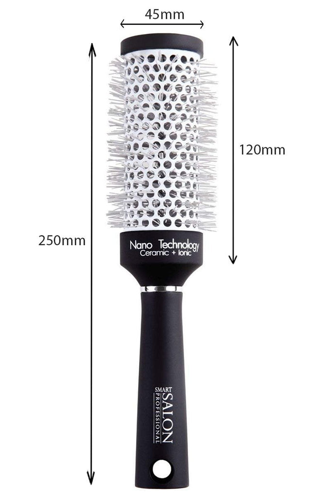 Round Ceramic Blow Dry Brush - (Medium) - Ideal For Mid/Long Length Hair Styles. 45mm Diameter.